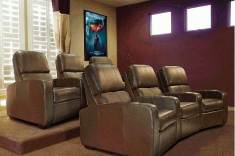 home theater installation and seats