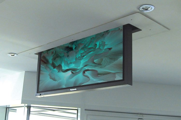 Installation of Motorized TV Lift on Concrete Ceiling